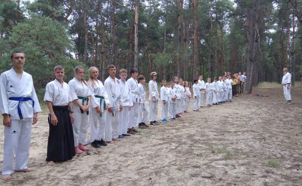 летний спортивный лагерь, айкидо херсон, лагерь айкидо, тренировки по айкидо, айкидо в лесу